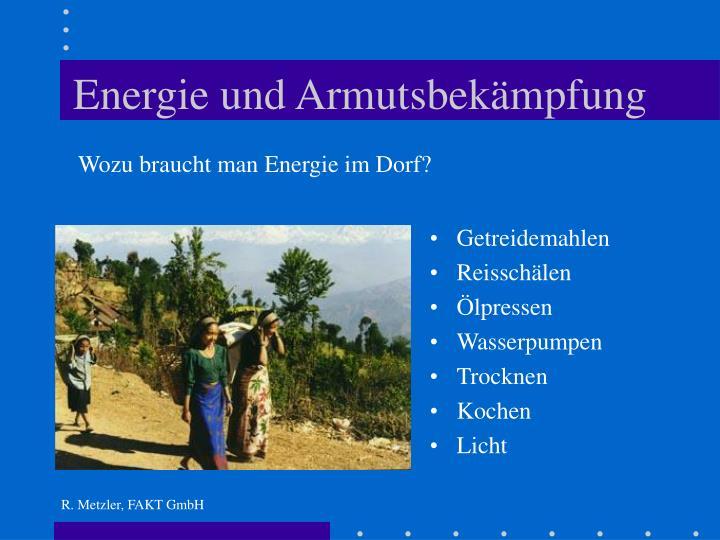 Energie und Armutsbekämpfung