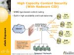 high capacity content security with radware cid