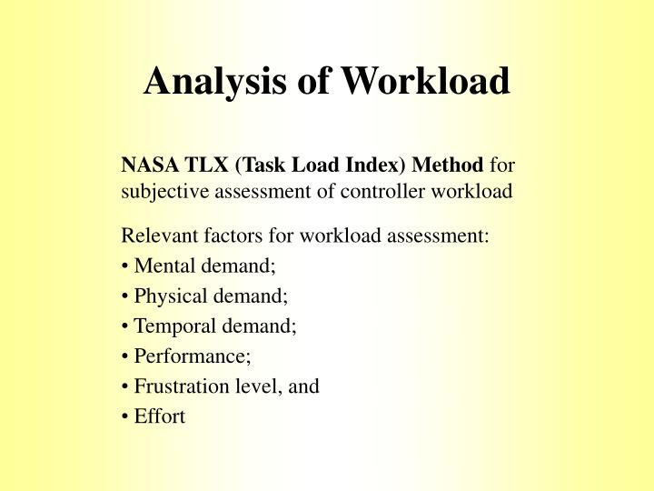 Analysis of Workload
