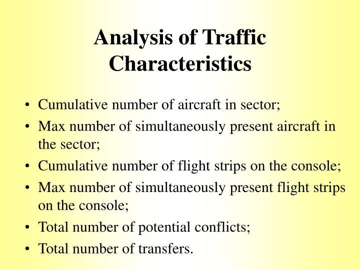 Analysis of Traffic Characteristics