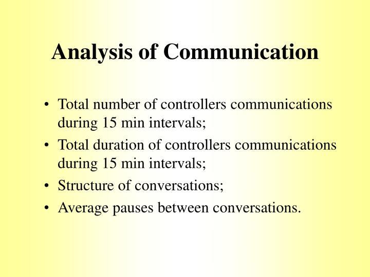 Analysis of Communication
