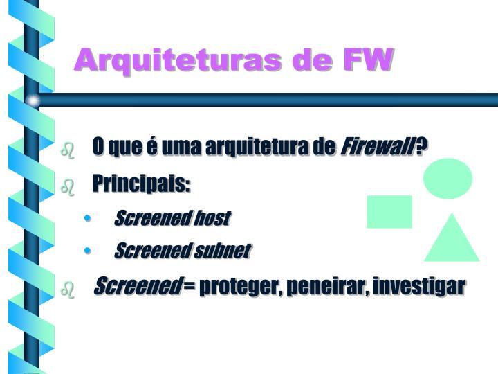 Arquiteturas de FW