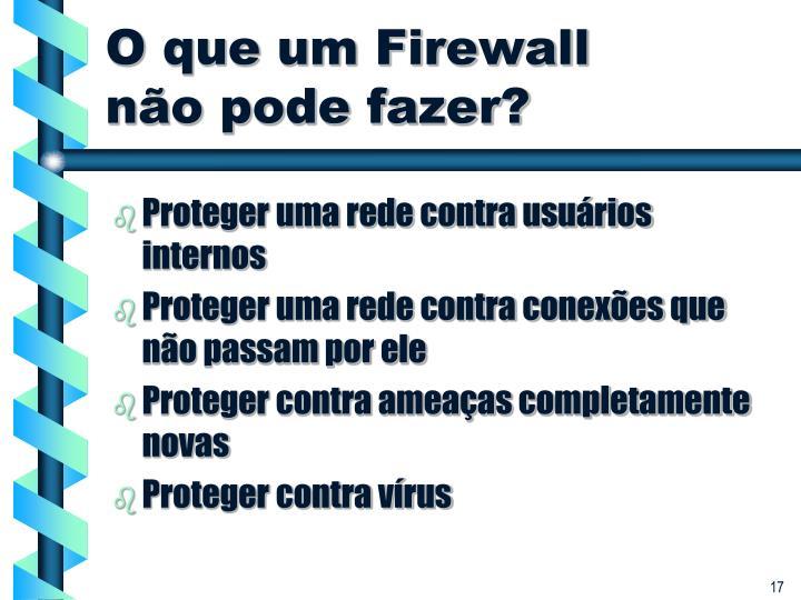 O que um Firewall