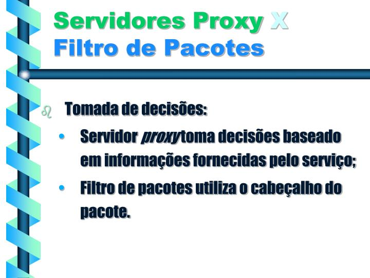 Servidores Proxy