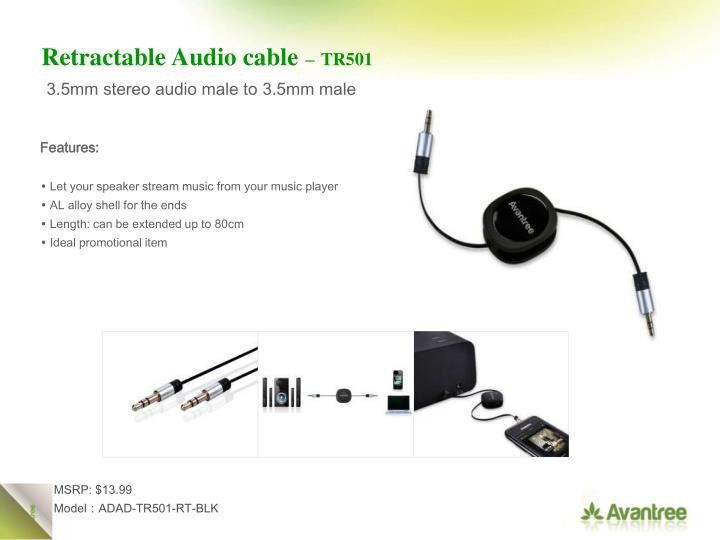 Retractable Audio cable