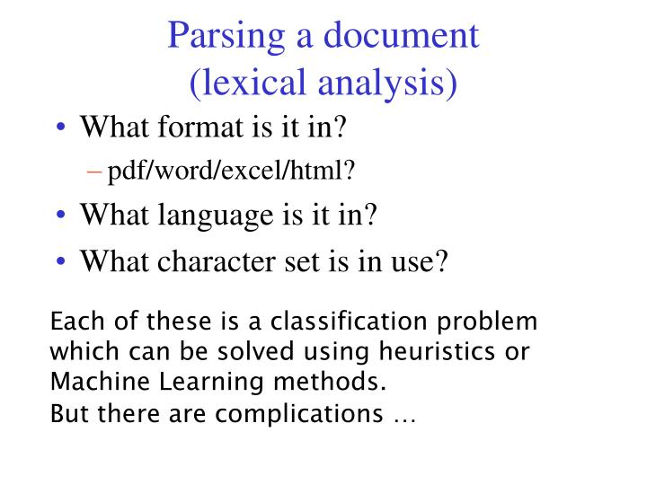 Parsing a document