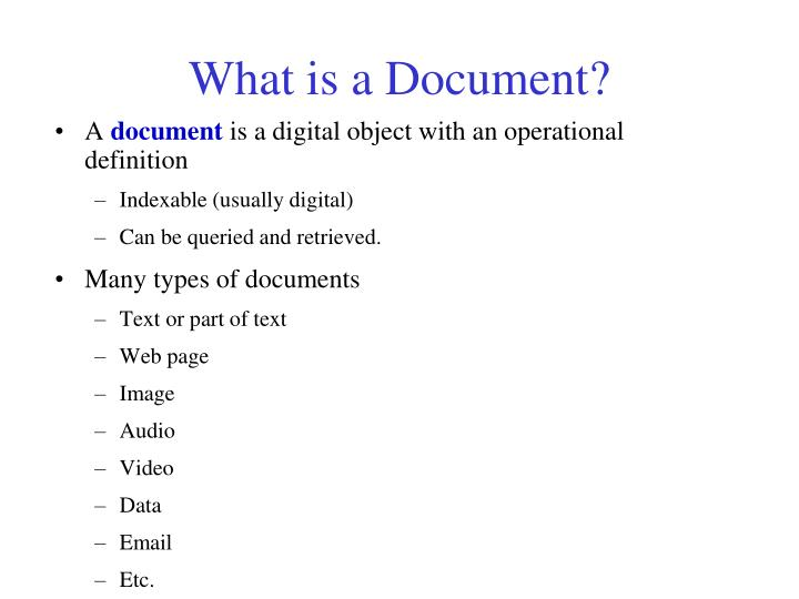 What is a Document?