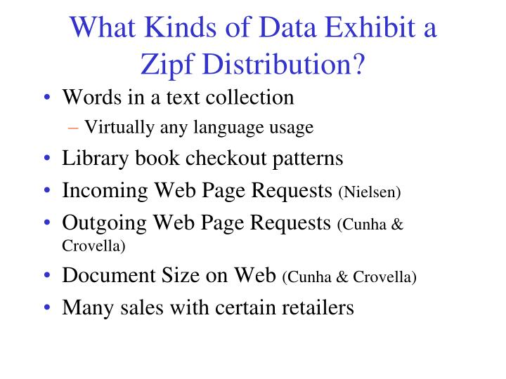 What Kinds of Data Exhibit a Zipf Distribution?