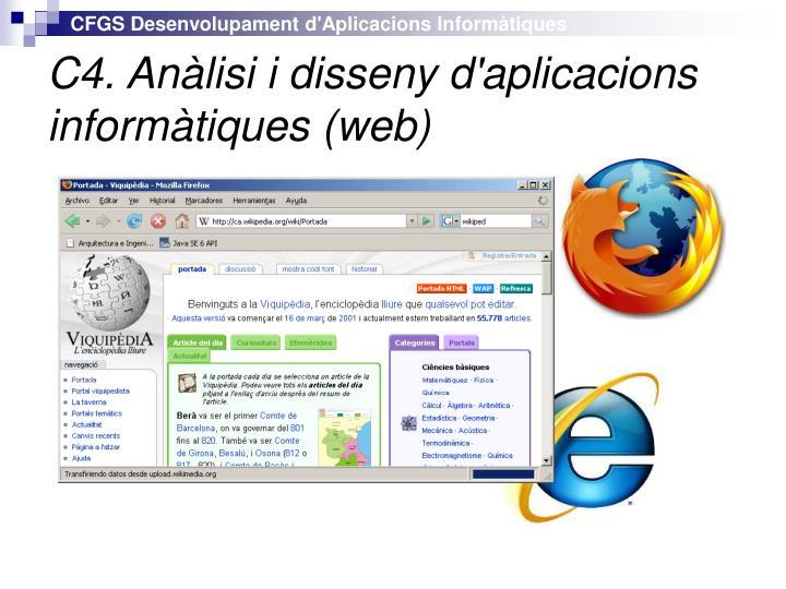 C4. Anàlisi i disseny d'aplicacions informàtiques (web)