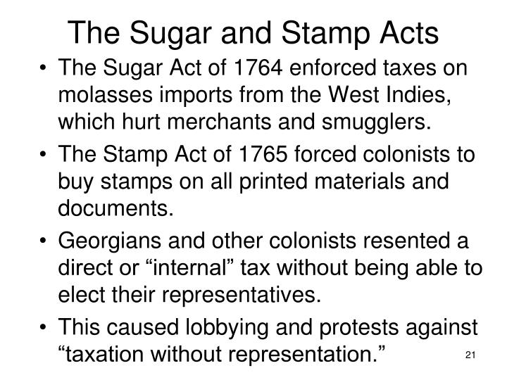 The Sugar and Stamp Acts