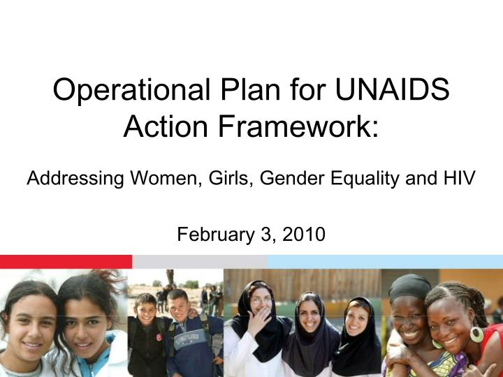Operational plan for unaids action framework