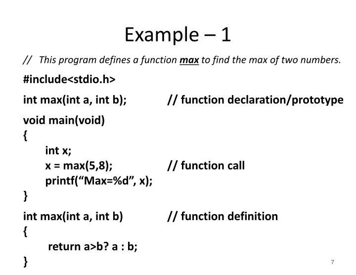 Example – 1