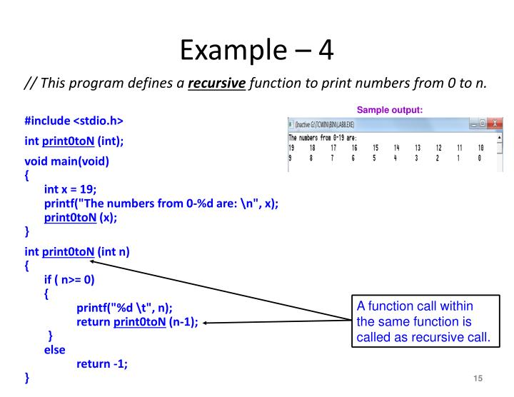 Example – 4