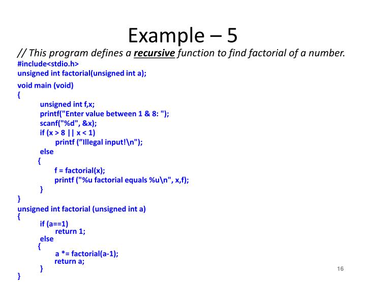Example – 5