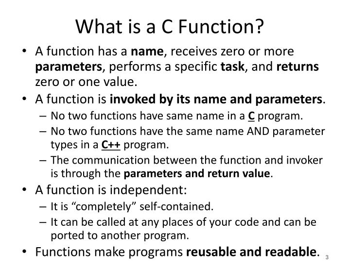 What is a C Function?