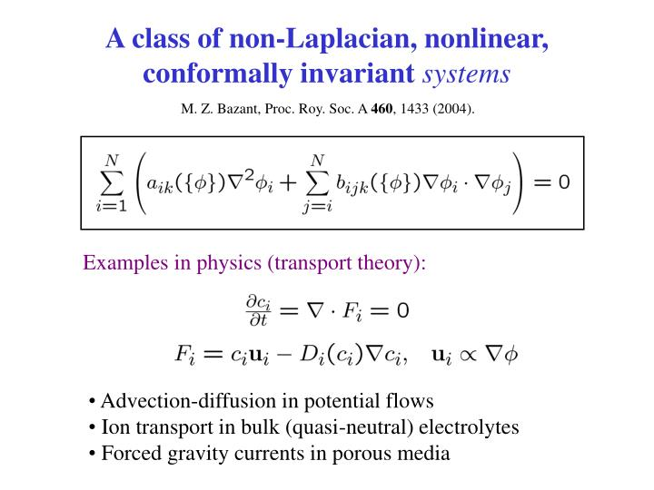 A class of non-Laplacian, nonlinear, conformally invariant