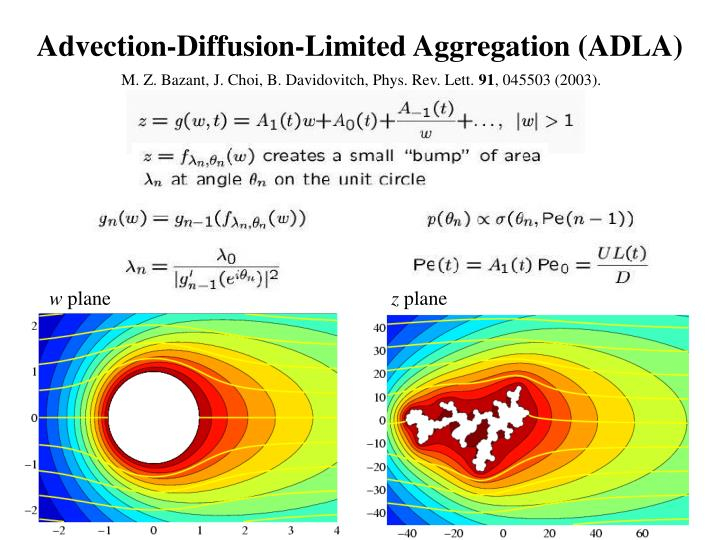 Advection-Diffusion-Limited Aggregation (ADLA)