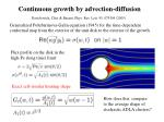 continuous growth by advection diffusion