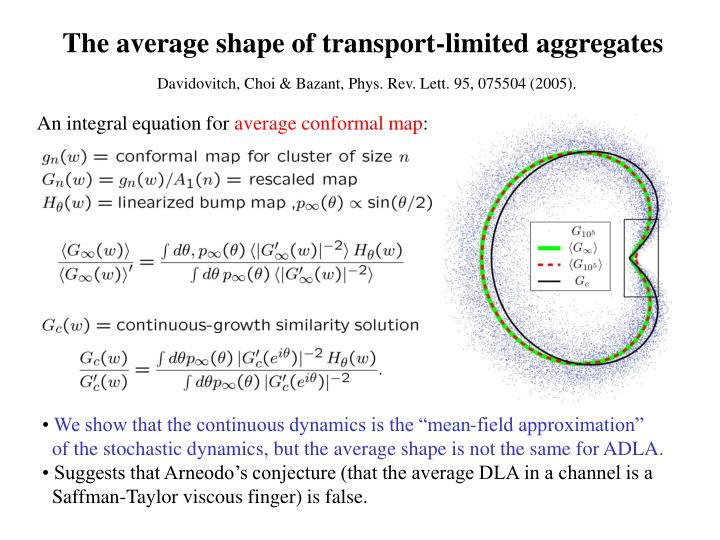 The average shape of transport-limited aggregates