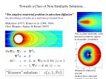 towards a class of non similarity solutions