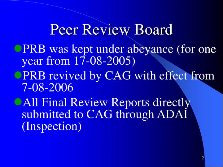 Peer Review Board