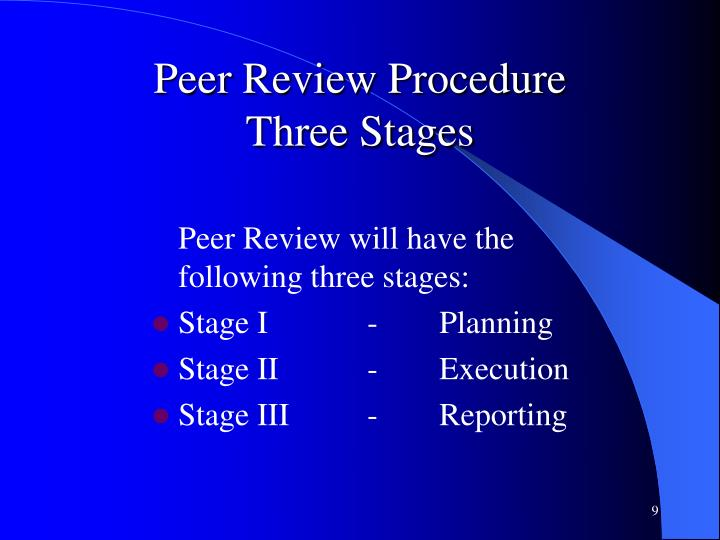 Peer Review Procedure