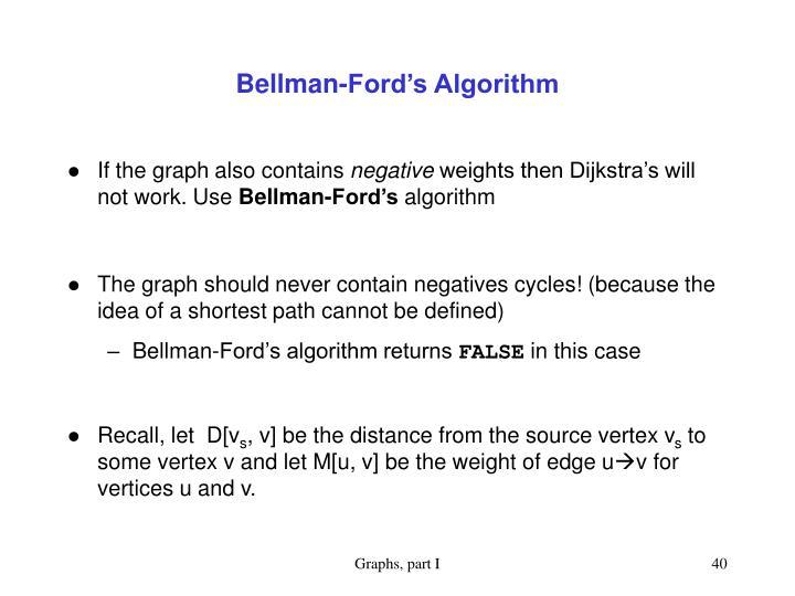 Bellman-Ford's Algorithm