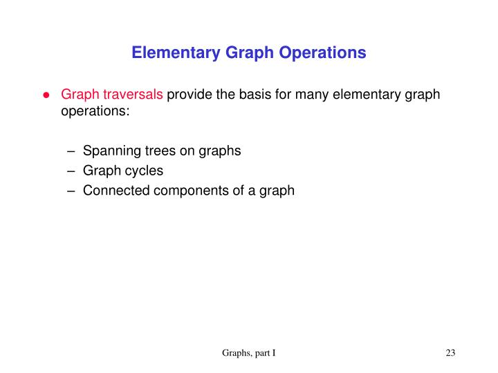 Elementary Graph Operations