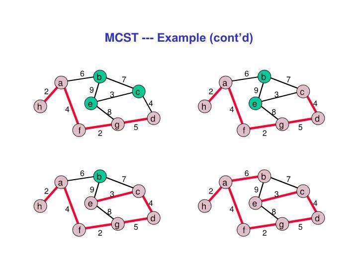 MCST --- Example (cont'd)