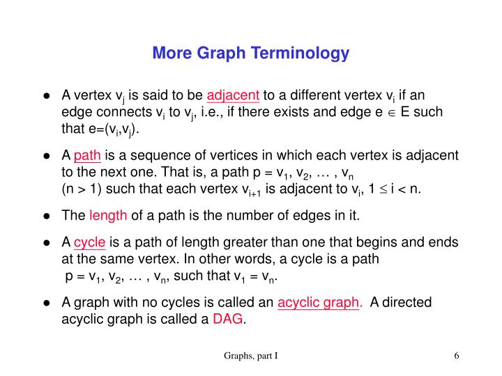 More Graph Terminology