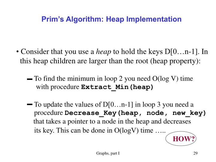 Prim's Algorithm: Heap Implementation