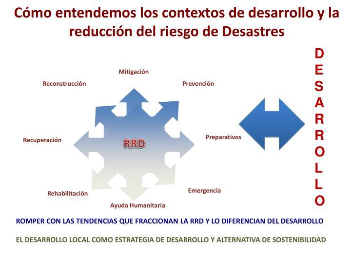 Cómo entendemos los contextos de desarrollo y la  reducción del riesgo de Desastres