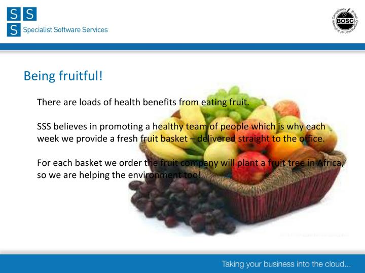 Being fruitful!