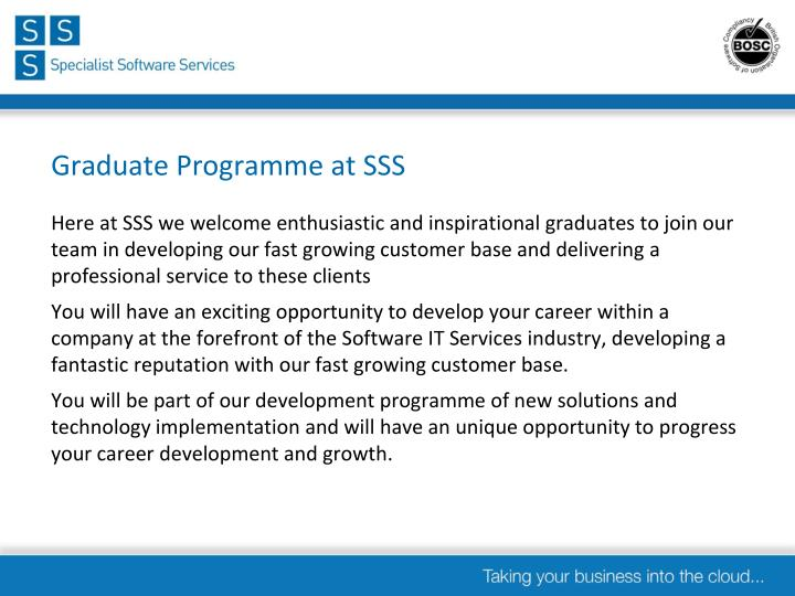 Graduate programme at sss