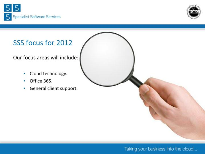 Sss focus for 2012