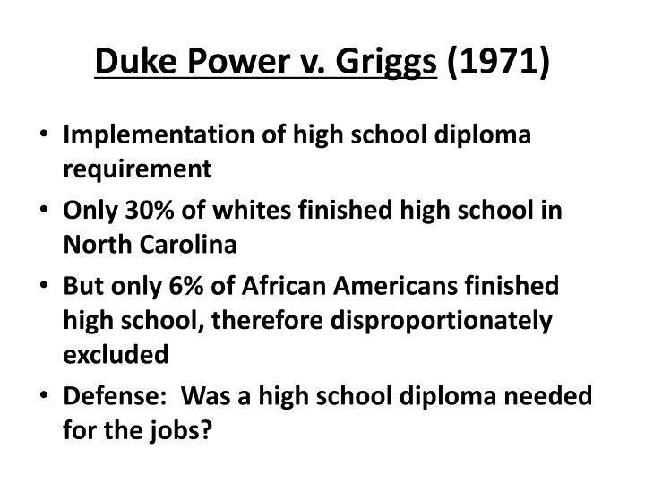 Duke Power v. Griggs