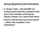group systemic discrimination