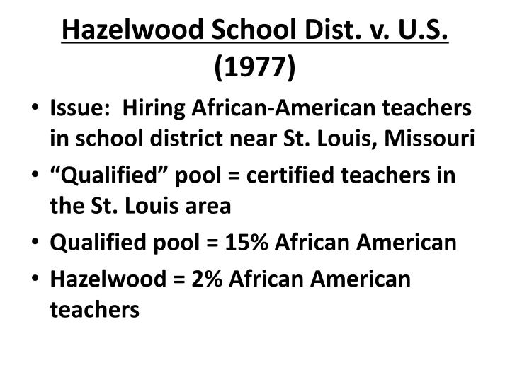 Hazelwood School Dist. v. U.S.