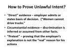 how to prove unlawful intent