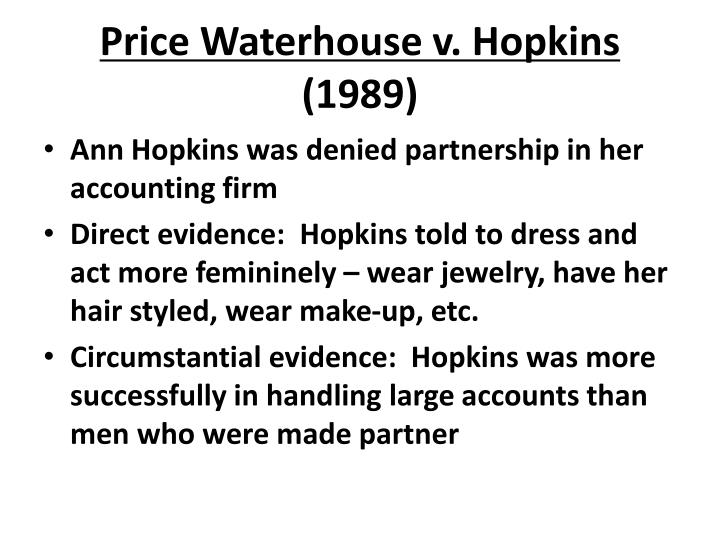 Price Waterhouse v. Hopkins