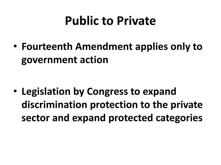 Public to Private