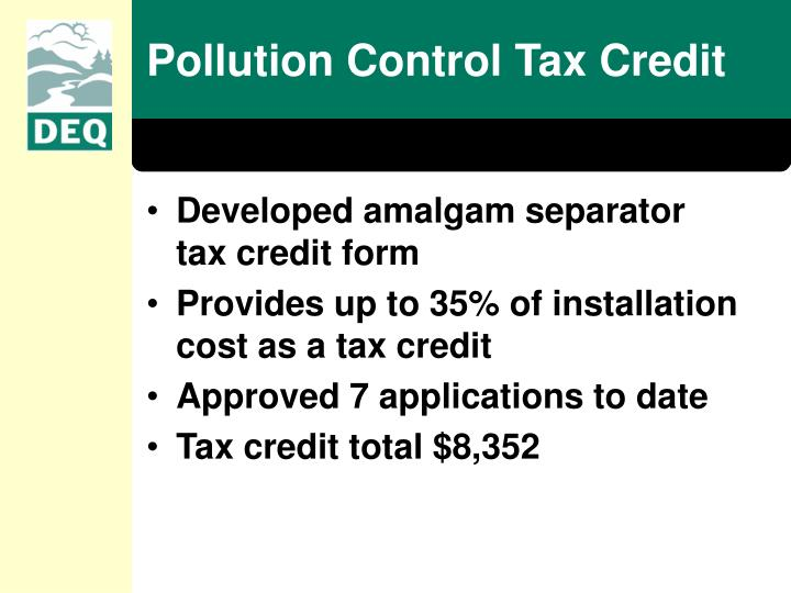 Pollution Control Tax Credit