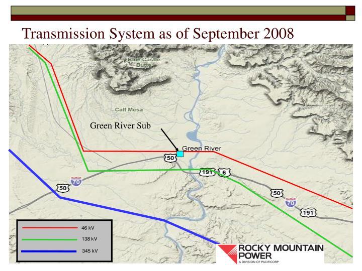 Transmission System as of September 2008