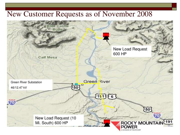 New Customer Requests as of November 2008
