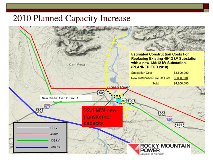 2010 Planned Capacity Increase