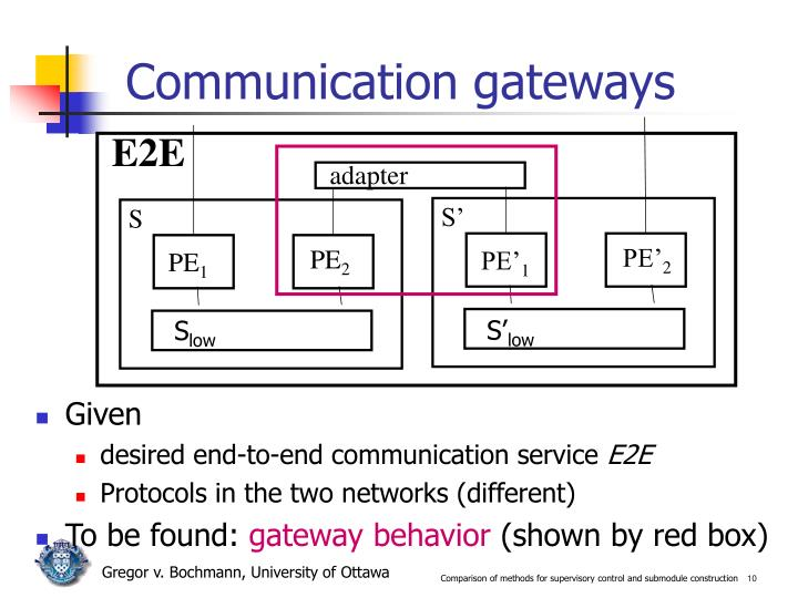 Communication gateways