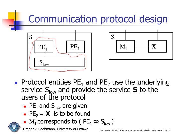 Communication protocol design