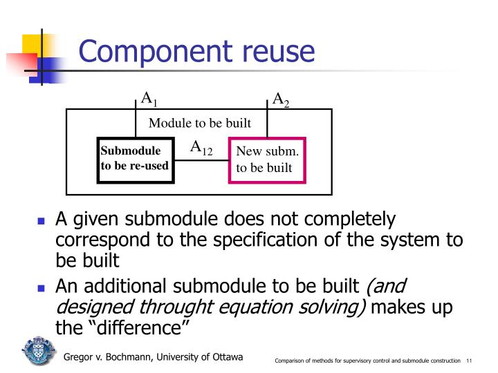 Component reuse