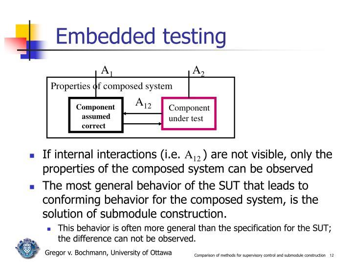 Embedded testing