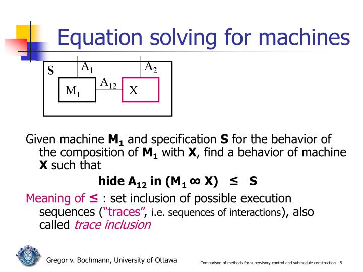 Equation solving for machines